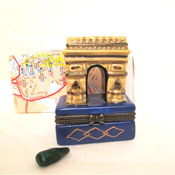 Arc d'Triomphe Porcelain Box