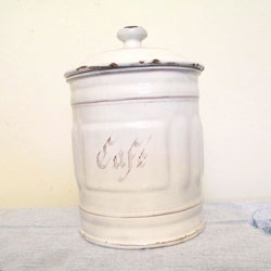 French Cafe Canister