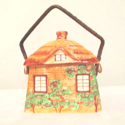 Vintage Cottage Cookie Jar