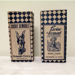 Vintage French Farine and Sucre Boxes