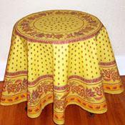Yellow, orange and red Tablecloth