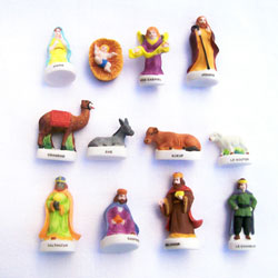 Set of 25 French King Cake Nativity Figures