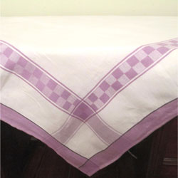 White and Plum Tablecloth