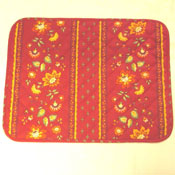 Red Quilted Placemat