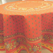 "Round Red ""Lisa: Tablecloth"