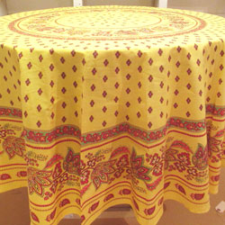 "Round Yellow ""Lisa"" Tablecloth"