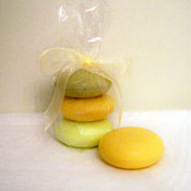 Cello Bag of 3 Round French Soaps