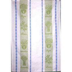 Blue and Green Herbes towel
