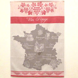 """Vin Rouge"" (red wine) Towel"