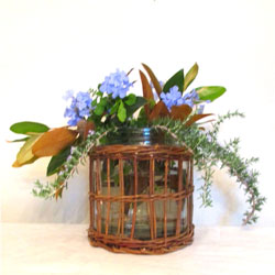 Large Wicker Vase