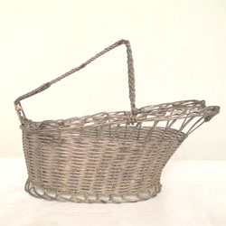 Vintage French Wine Basket
